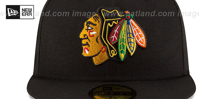 Blackhawks 'TEAM-SUPERB' Black Fitted Hat by New Era
