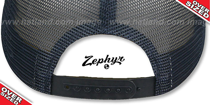 Blank 'OVER-SIZED DIGICAMO MESH-BACK SNAPBACK' Blue-Navy Hat by Zephyr