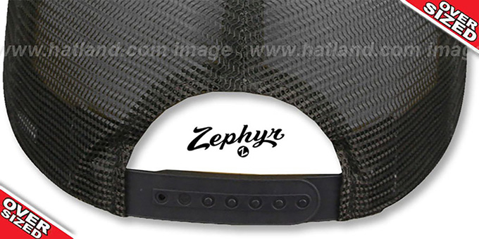 Blank 'OVER-SIZED DIGICAMO MESH-BACK SNAPBACK' Grey-Charcoal Hat by Zephyr