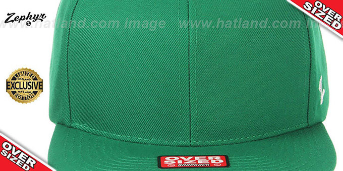 Blank 'OVER-SIZED SNAPBACK' Kelly Green Hat by Zephyr