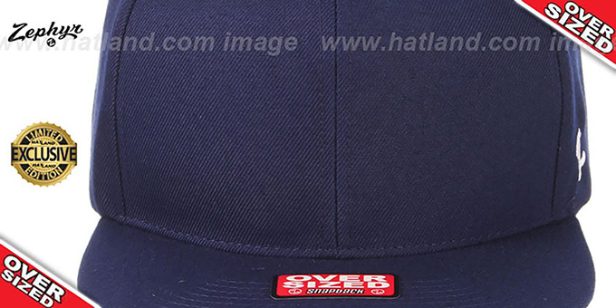 Blank 'OVER-SIZED SNAPBACK' Navy Hat by Zephyr