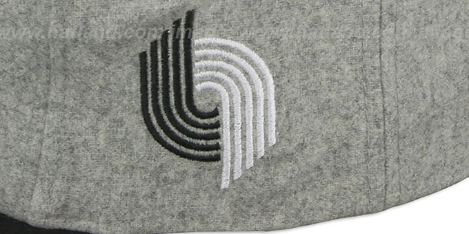 Blazers '2T TAILSWEEPER STRAPBACK' Grey-Black Hat by Mitchell & Ness