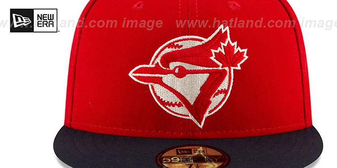 Blue Jays '2019 JULY 4TH STARS N STRIPES' Fitted Hat by New Era