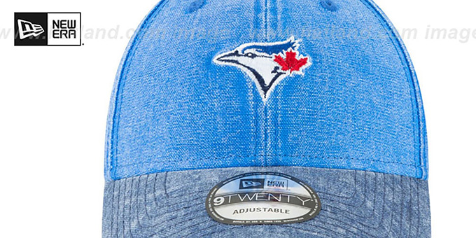 Blue Jays 'GW RUGGED CANVAS STRAPBACK' Royal-Navy Hat by New Era