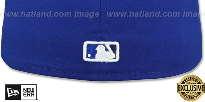 Blue Jays 'LEATHER POP' Royal Fitted Hat by New Era