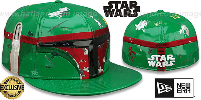Boba Fett 'CHARACTER FACE' Fitted Hat by New Era