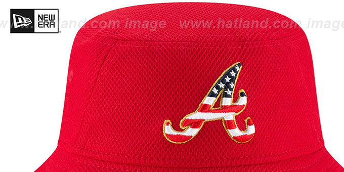 Braves '2018 JULY 4TH STARS N STRIPES BUCKET' Red Hat by New Era