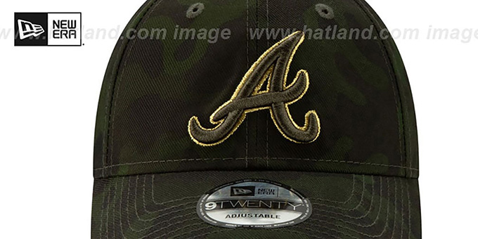 Braves 2019 ARMED FORCES 'STARS N STRIPES STRAPBACK' Hat by New Era