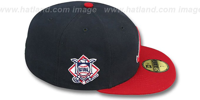 Braves 'BAYCIK' Navy-Red Fitted Hat by New Era