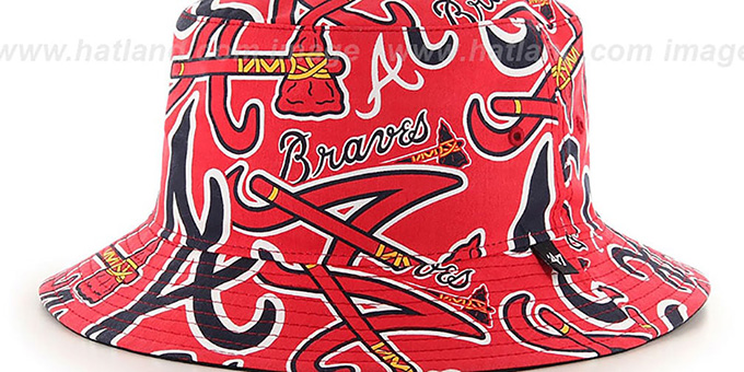 Braves 'BRAVADO BUCKET' Hat by Twins 47 Brand