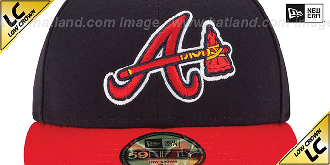 Braves 'LOW-CROWN ALTERNATE' Fitted Hat by New Era