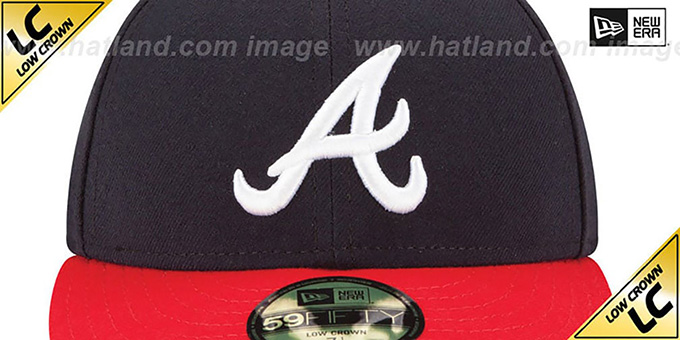 Braves 'LOW-CROWN' HOME Fitted Hat by New Era