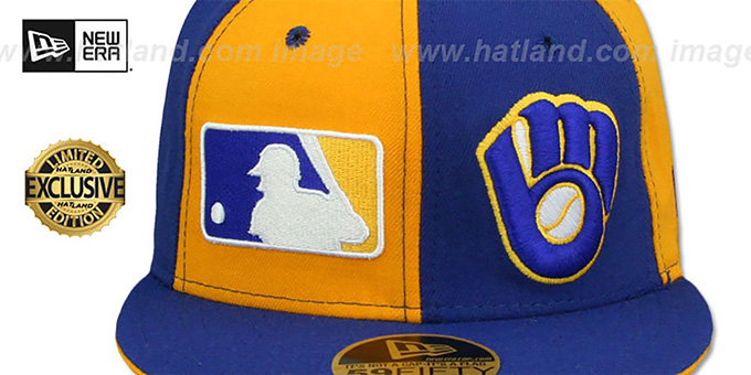 Brewers 'DOUBLE WHAMMY' Gold-Royal Fitted Hat