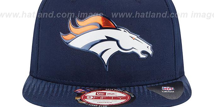 Denver Broncos 2015 NFL DRAFT SNAPBACK Navy Hat by New Era f5a911be354