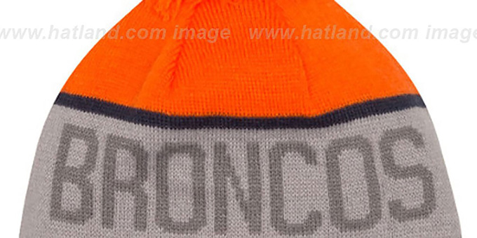 Broncos '2015 STADIUM' Grey-Orange Knit Beanie Hat by New Era