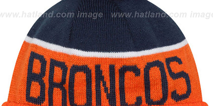 Broncos '2015 STADIUM' Orange-Navy Knit Beanie Hat by New Era