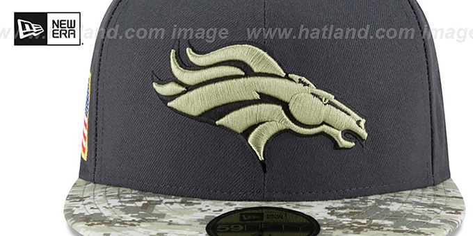 Broncos '2016 SALUTE-TO-SERVICE' Grey-Desert Fitted Hat by New Era