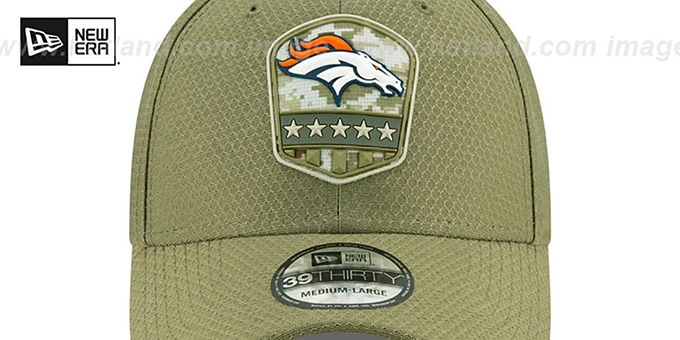 Broncos '2019 SALUTE-TO-SERVICE FLEX' Olive Hat by New Era