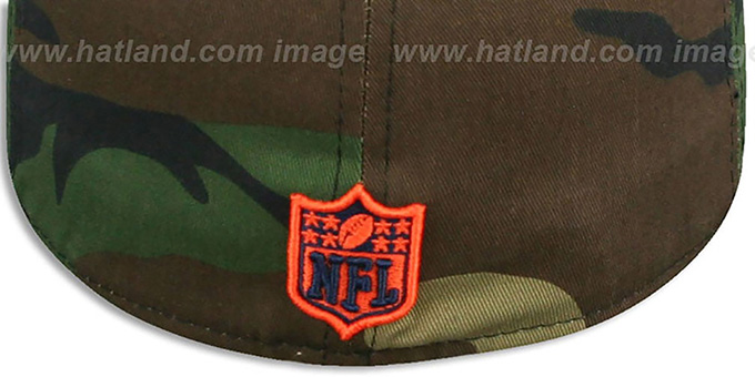 Broncos '2T SPLIT NFL TEAM-BASIC' Army-Orange Fitted Hat by New Era