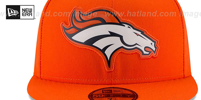Broncos 'BEVEL' Orange Fitted Hat by New Era