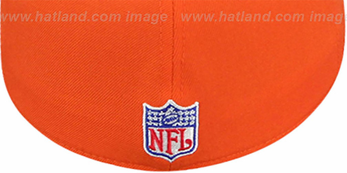 Broncos 'COACHES' Orange Fitted Hat by Reebok