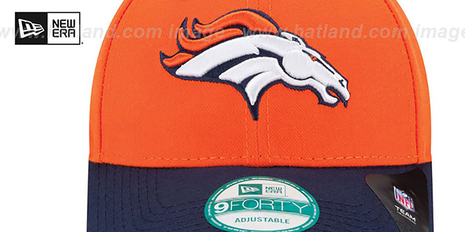 Broncos 'NFL 3X SUPER BOWL CHAMPS' Orange-Navy Strapback Hat by New Era