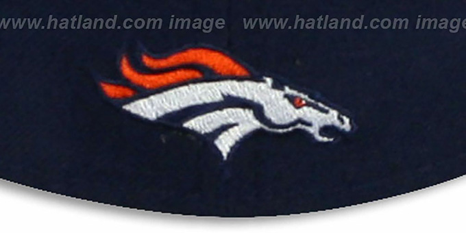 Broncos 'NFL FELTN' Navy Fitted Hat by New Era