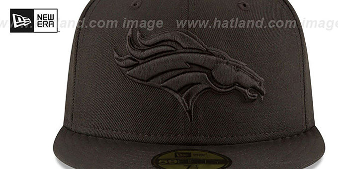 Broncos 'NFL TEAM-BASIC BLACKOUT' Fitted Hat by New Era