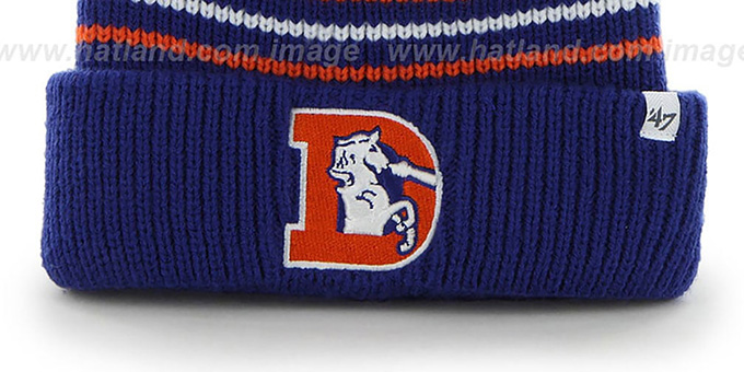 Broncos NFL THROWBACK 'INCLINE' Knit Beanie Hat by 47 Brand