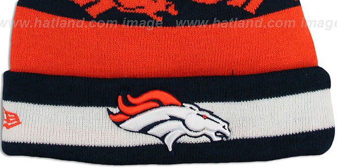 Broncos 'REPEATER SCRIPT' Knit Beanie Hat by New Era