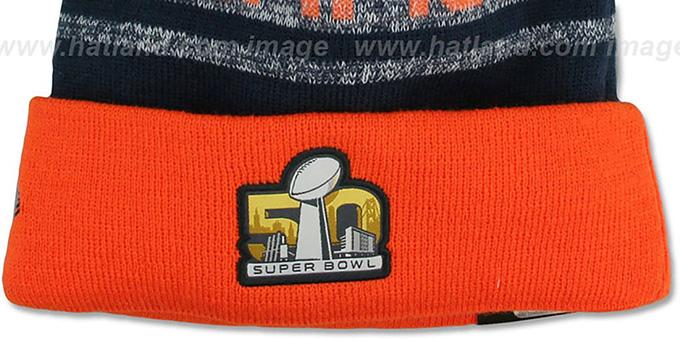 ... Broncos  SUPER BOWL 50 CHAMPS  Knit Beanie Hat by New Era ... fb5e225c0
