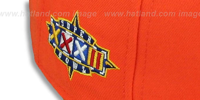 Broncos 'SUPER BOWL XXXII' Orange Fitted Hat by New Era