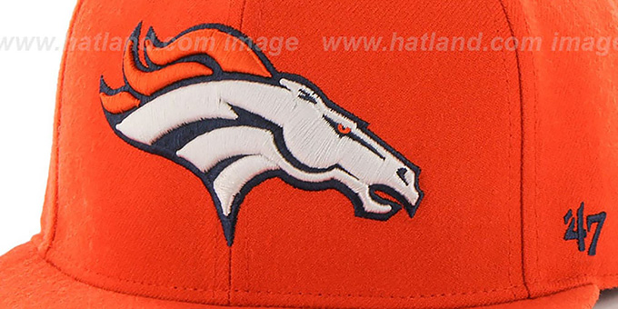 Broncos 'SUPER-SHOT STRAPBACK' Orange Hat by Twins 47 Brand
