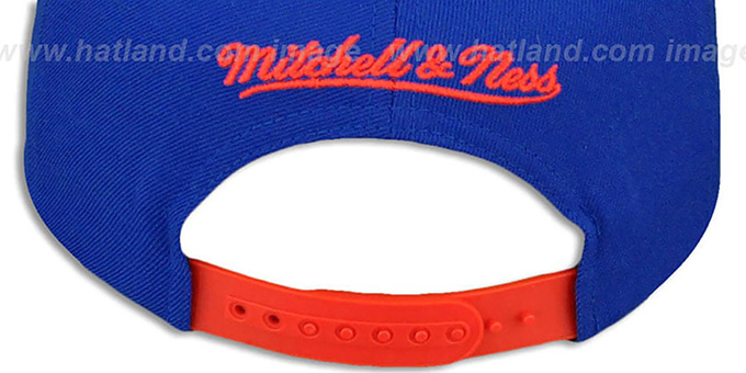 Broncos 'TAILSWEEP SNAPBACK' Royal-Orange Hat by Mitchell and Ness