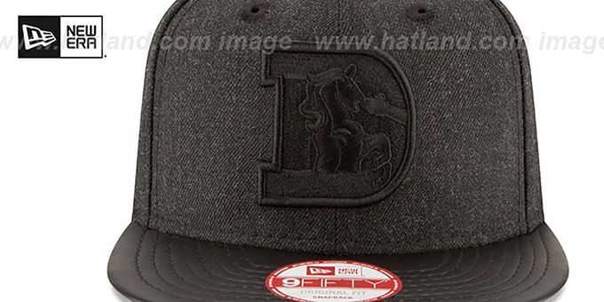 Broncos 'THROWBACK LEATHER-MATCH SNAPBACK' Black Hat by New Era