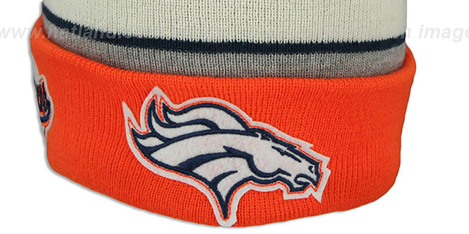 Broncos 'WINTER TRADITION' Knit Beanie Hat by New Era