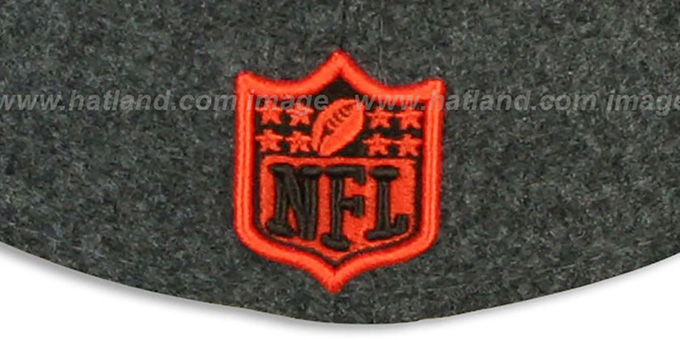 Browns '2T NFL MELTON-BASIC' Grey-Orange Fitted Hat by New Era