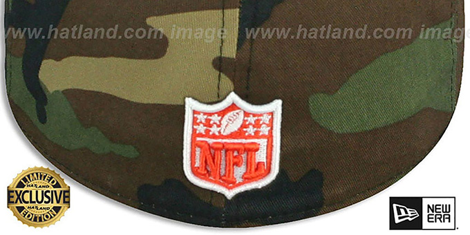Browns 'NFL TEAM-BASIC' Army Camo Fitted Hat by New Era