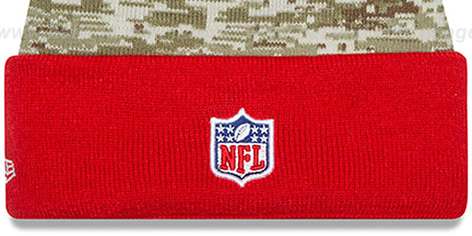 Buccaneers '2015 SALUTE-TO-SERVICE' Knit Beanie Hat by New Era