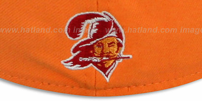 Buccaneers 'NFL 2T THROWBACK TEAM-BASIC' Orange-Red Fitted Hat by New Era