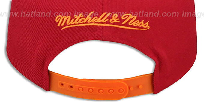 Buccaneers 'TAILSWEEP SNAPBACK' Red-Orange Hat by Mitchell and Ness