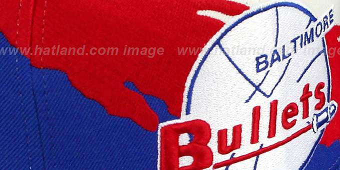Bullets 'PAINTBRUSH SNAPBACK' White-Red-Royal Hat by Mitchell & Ness
