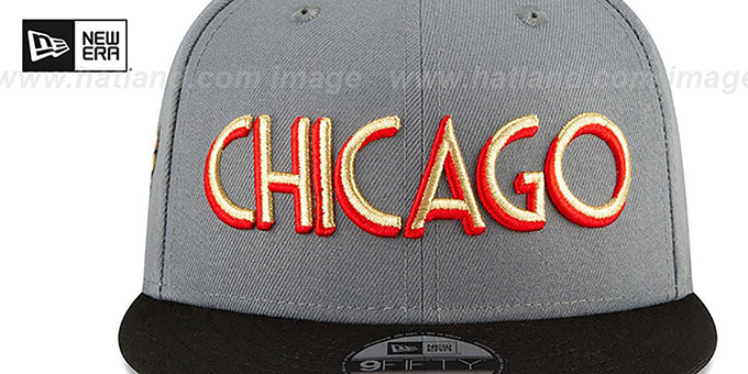 Bulls 20-21 'CITY-SERIES' SNAPBACK Grey-Black Hat by New Era