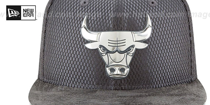 Bulls '2017 NBA ONCOURT SNAPBACK' Charcoal Hat by New Era
