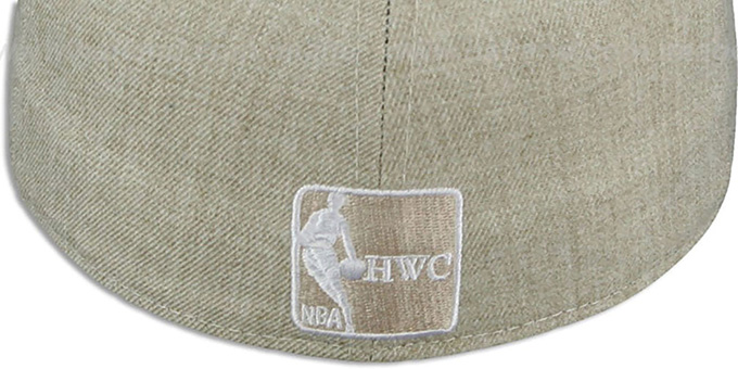Bulls '2T-HEATHER' Oatmeal-Army Fitted Hat by New Era