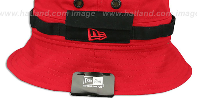 Bulls 'ADVENTURE' Red Bucket Hat by New Era