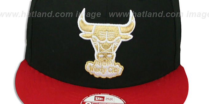 Bulls 'CHAMPS-HASH SNAPBACK' Black-Red Hat by New Era