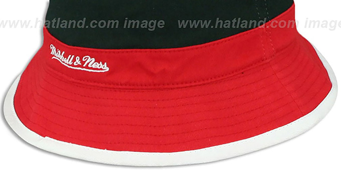 e092363e642 ... Bulls  COLOR-BLOCK BUCKET  White-Black-Red Hat by Mitchell and