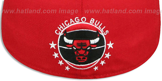 Bulls 'DERRICK ROSE 1' Red-Black Fitted Hat by New Era
