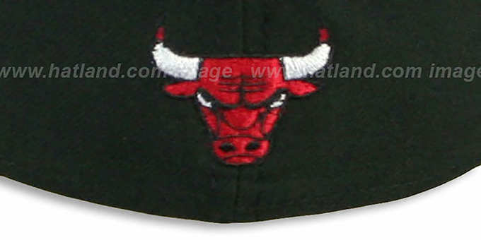 Bulls 'ESPN INNER LOCKED' Black-Red Fitted Hat by New Era